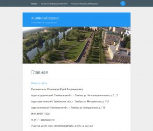 "Сайт компании ""ЖилКомСервис"""