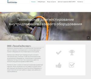 "Сайт компании ""ТехноГазЭксперт"""